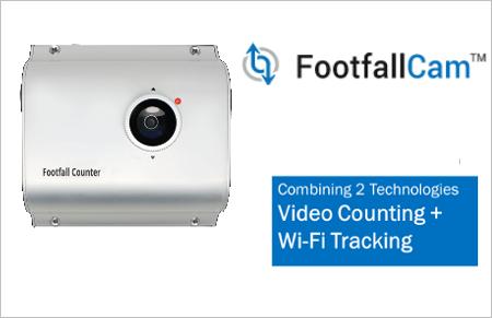 Tekio footfallcam contapersone a telecamera wi-fi tracking retail per negozi e catene di punti vendita