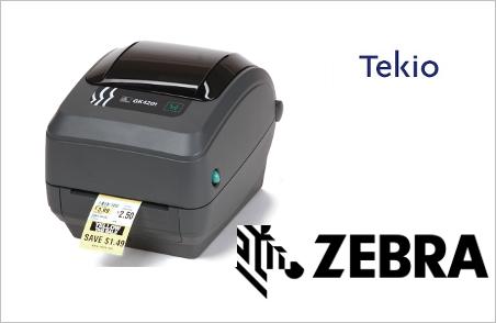 Tekio zebra gk420 stampante etichette per magazzino e negozi nel retail