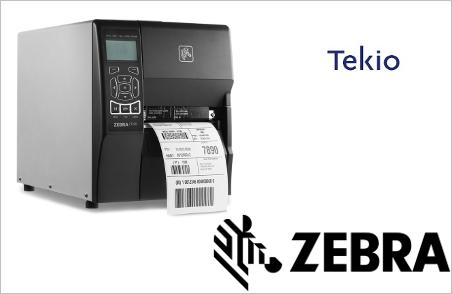 Tekio e zebra zt230 stampante etichette per magazzino e negozi nel retail